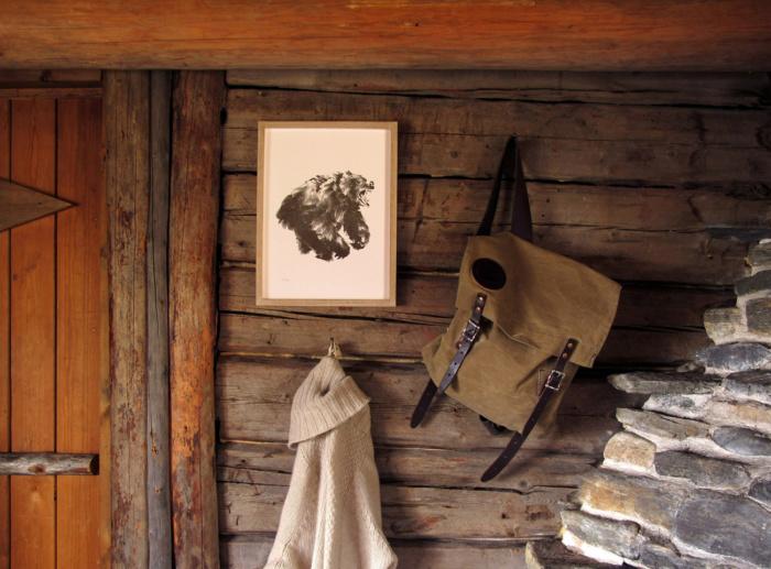 Bear framed wall art
