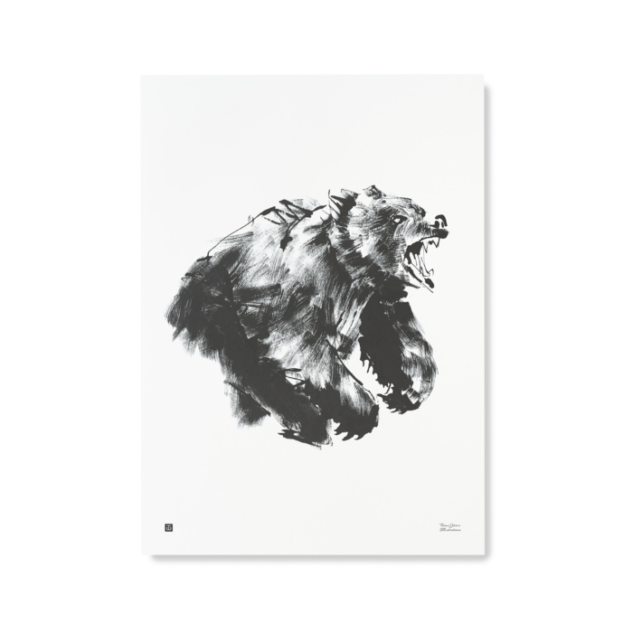 bear art print poster by teemu järvi
