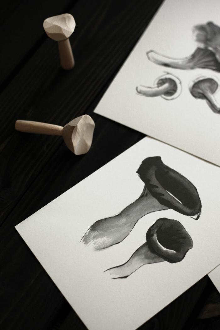 Mushroom card art print