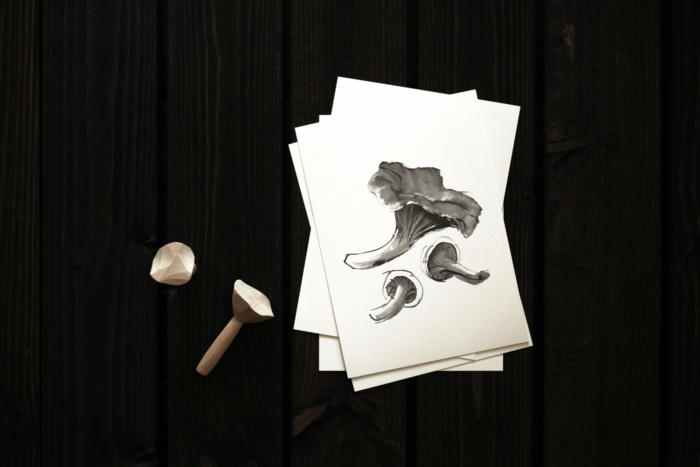 Chantarelle mushroom card