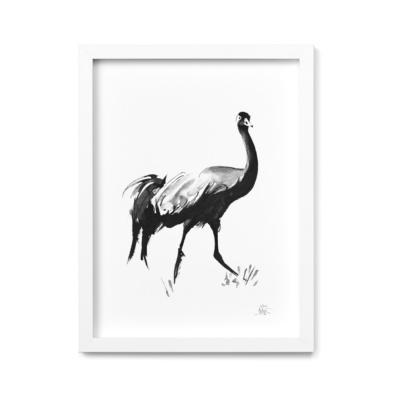 crane art print by teemu jarvi
