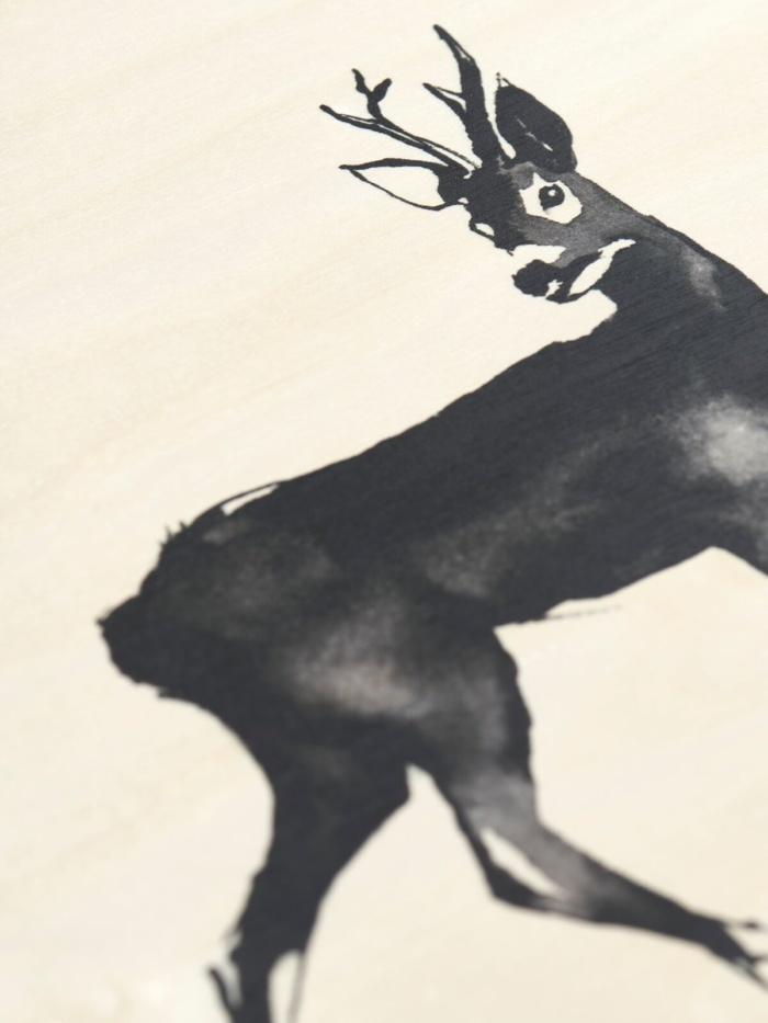 Deer wooden wall art