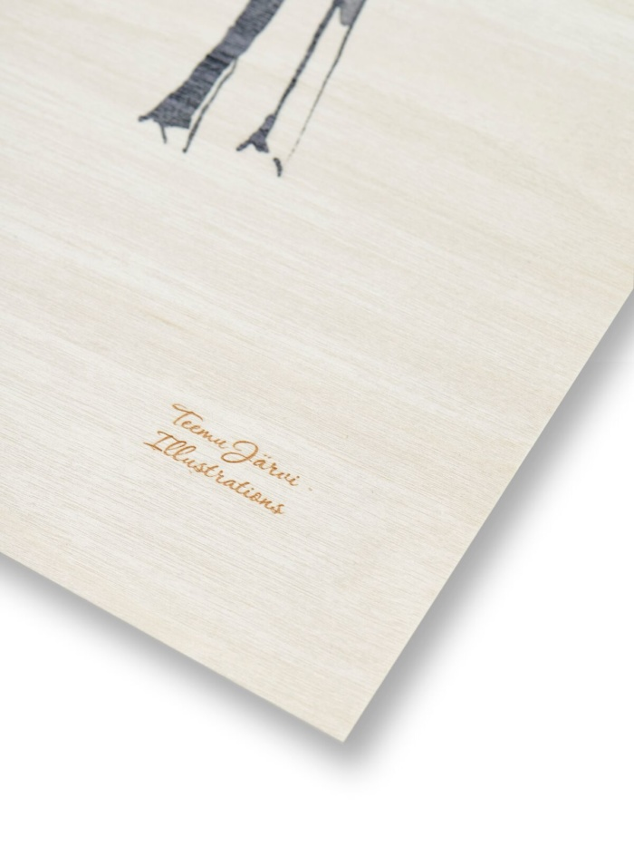 Deer plywood print