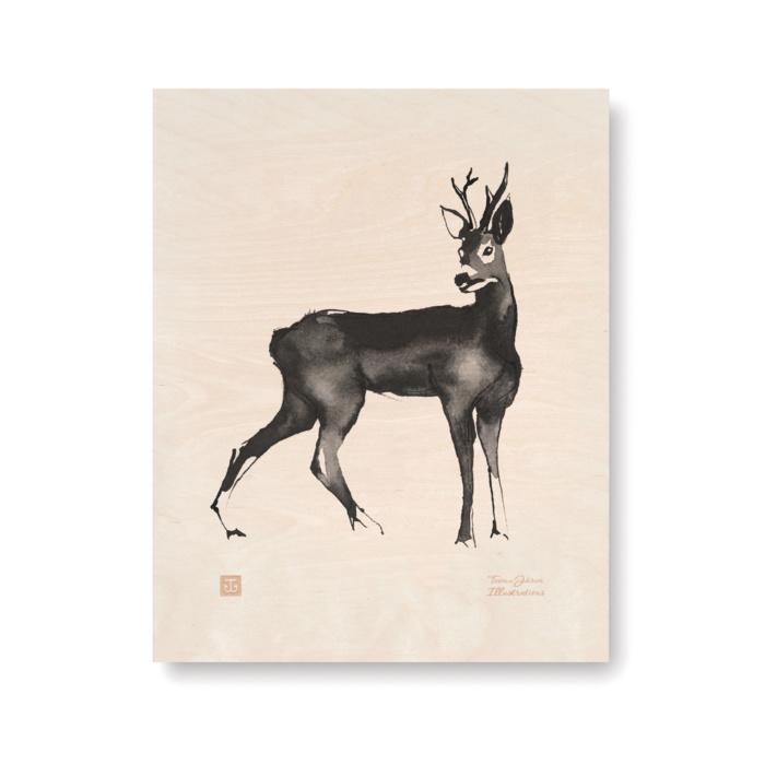Deer plywood art