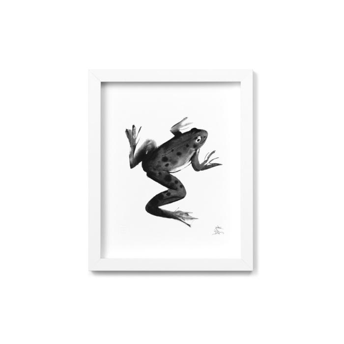 Frog framed wall art
