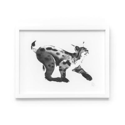 lynx art print by teemu jarvi