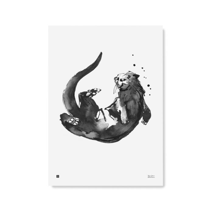 Black & white Otter wall decor