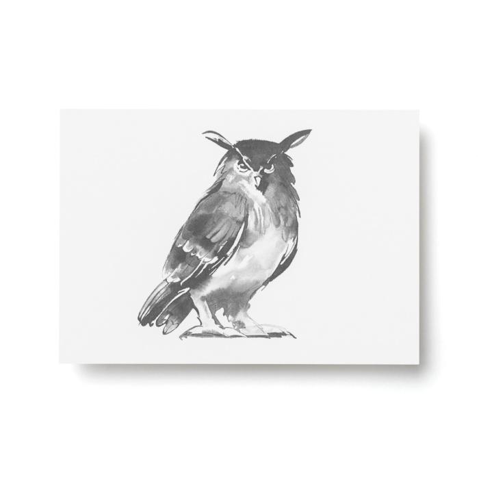 owl postcard art print by teemu jarvi