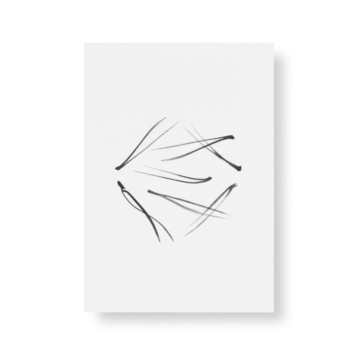 pine needle postcard art print by teemu jarvi