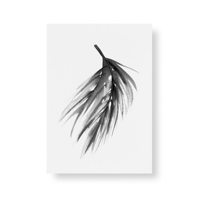 pine branch art print postcard set by teemu jarvi