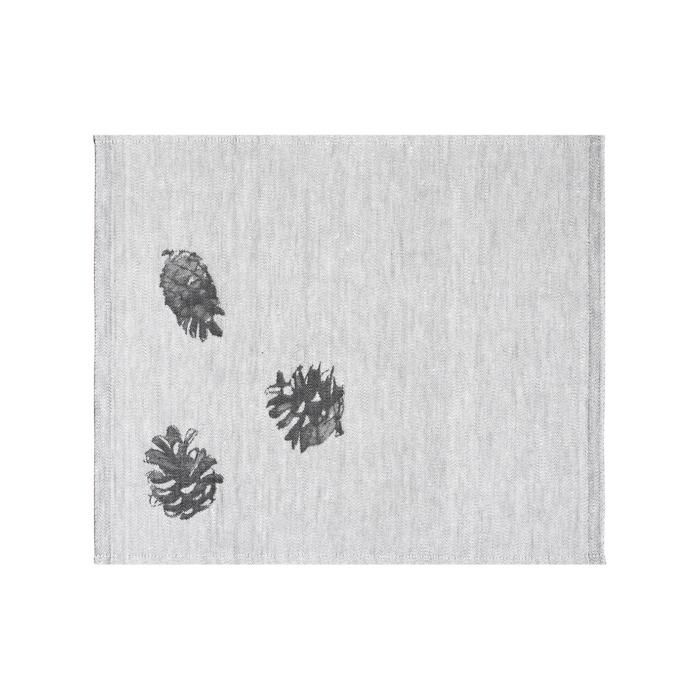 woven pine cone textile