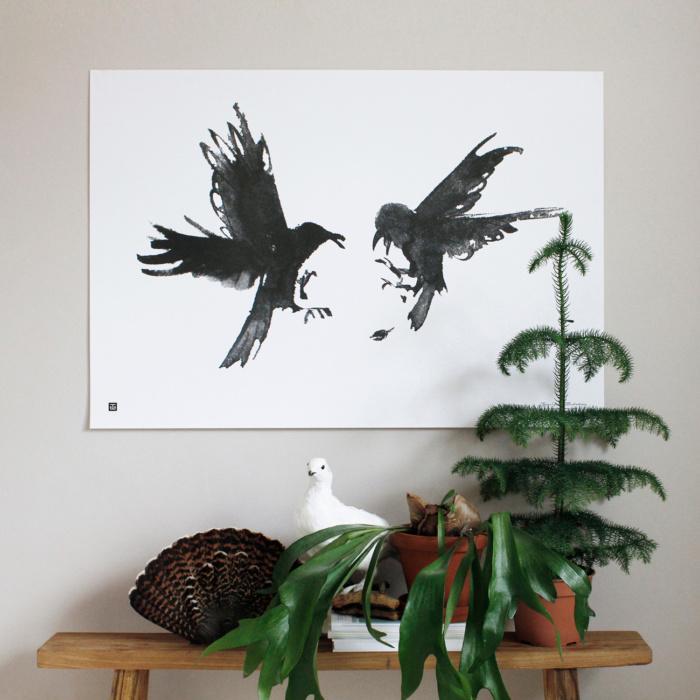 raging ravens wall art