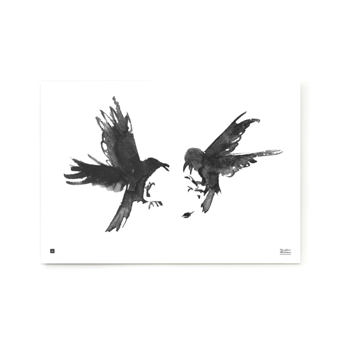 The Raging Ravens art print is part of a special art series that helps support nature conservation.