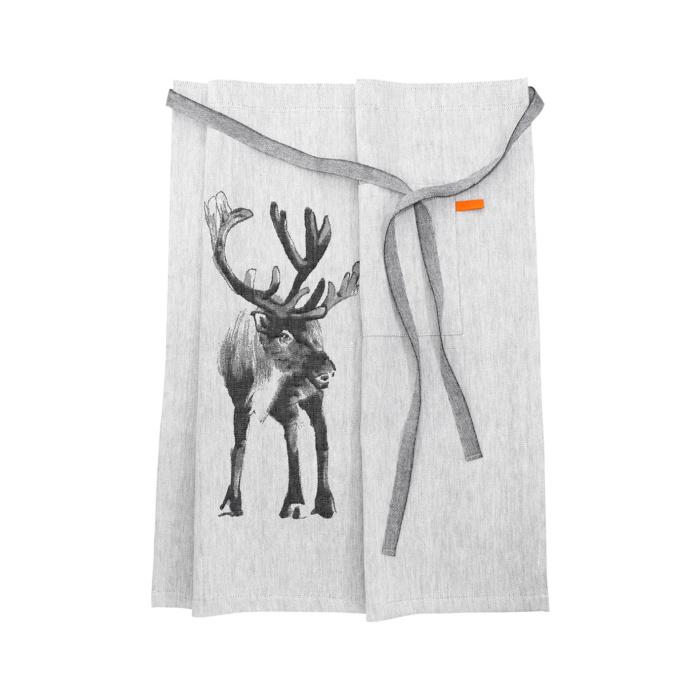 Woven reindeer apron