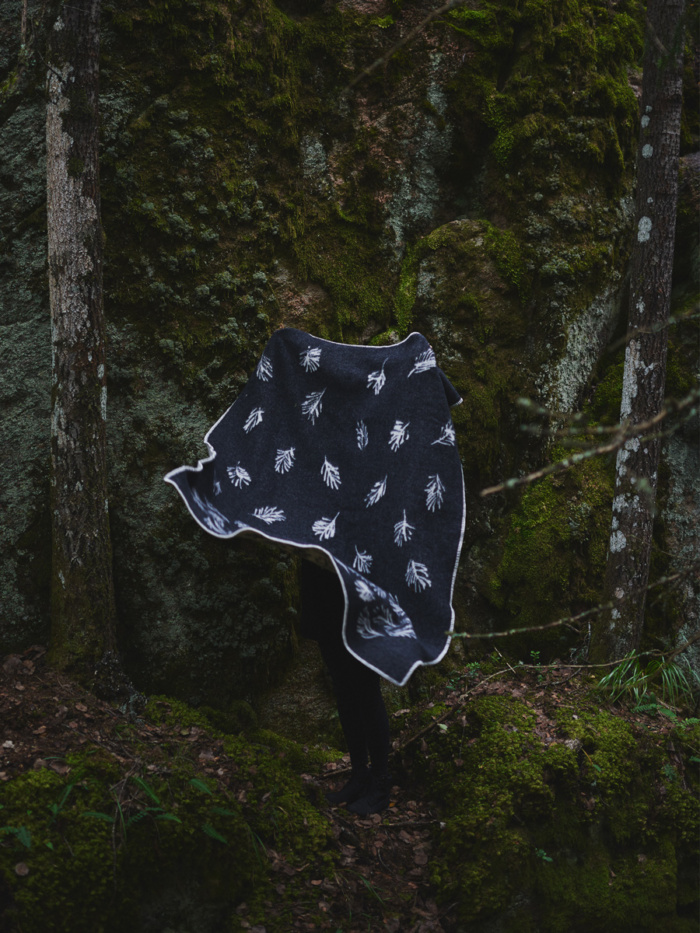"""The Shinrin-yoku wool blanket was named after the Japanese term for """"forest bathing"""", Shinrin-yoku, a recognised method for preventive health care."""