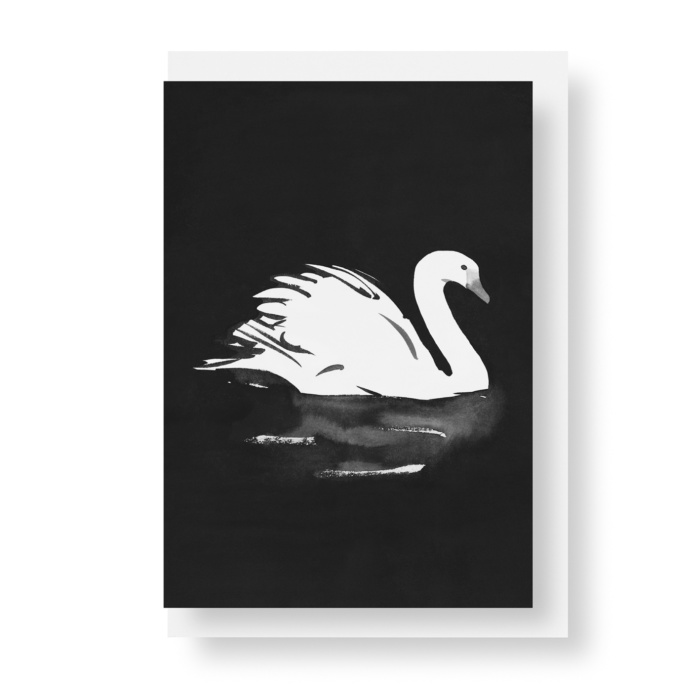swan postcard art print by teemu jarvi