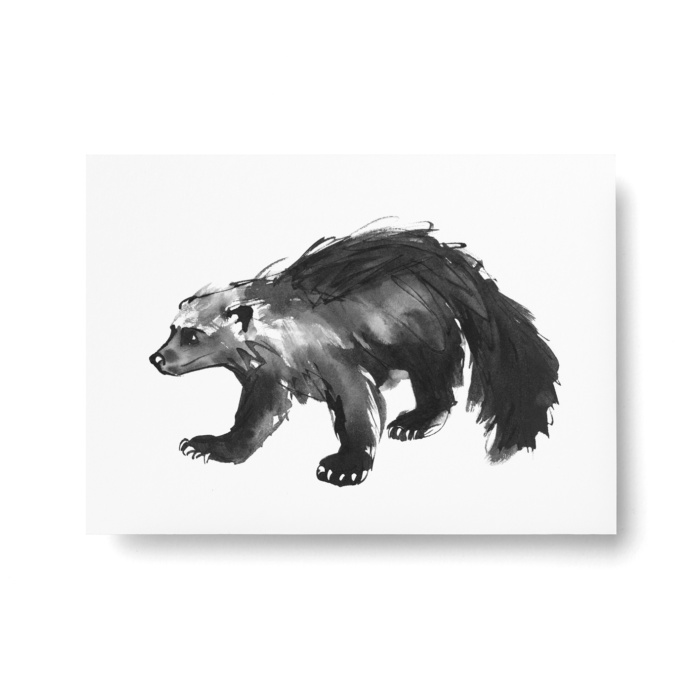wolverine postcard art print by teemu jarvi