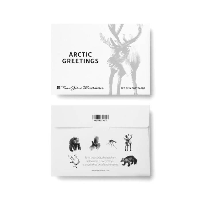 arctic greetings postcard art print by teemu jarvi