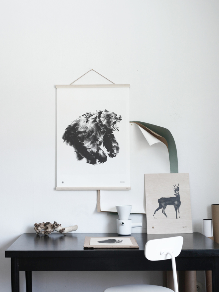 The Bear art print has an abstract feeling and it brings strong energy to a room.
