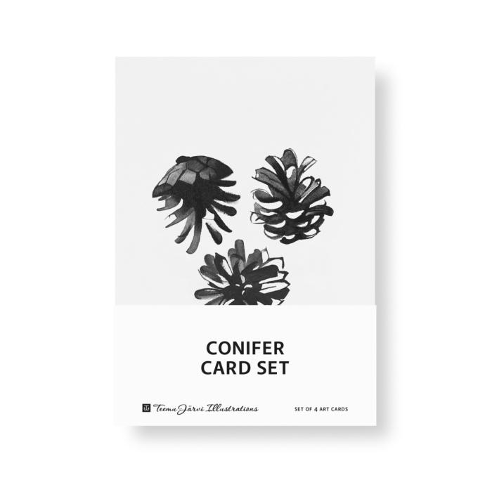 conifer art print postcard set by teemu jarvi