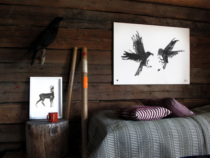 Raving Ravens art print