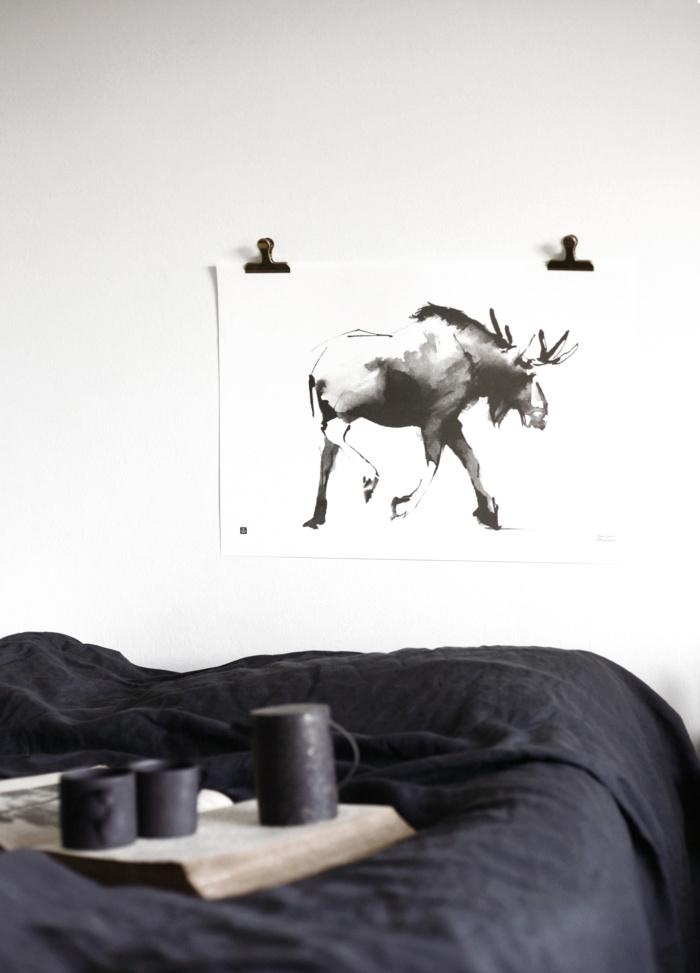 elk poster - teemu jarvi illustrations -