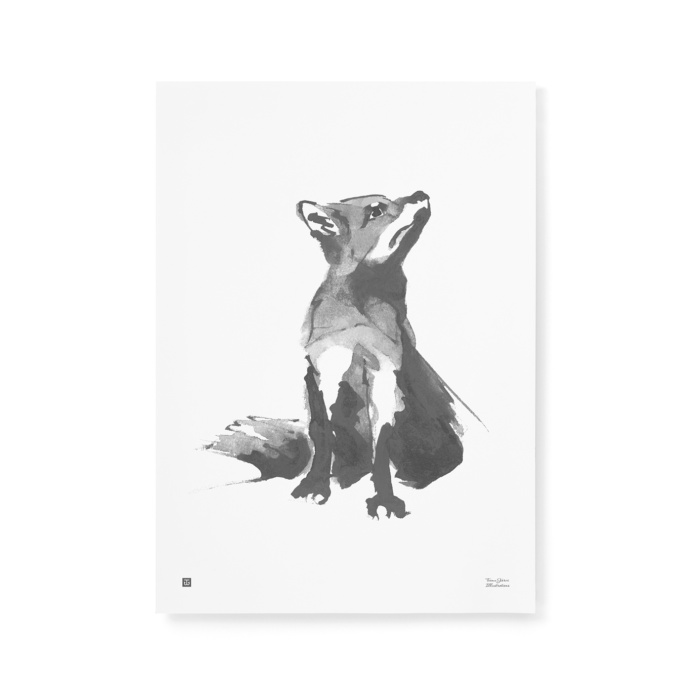 This sweet fox art print brings the feeling of the forest to your home.