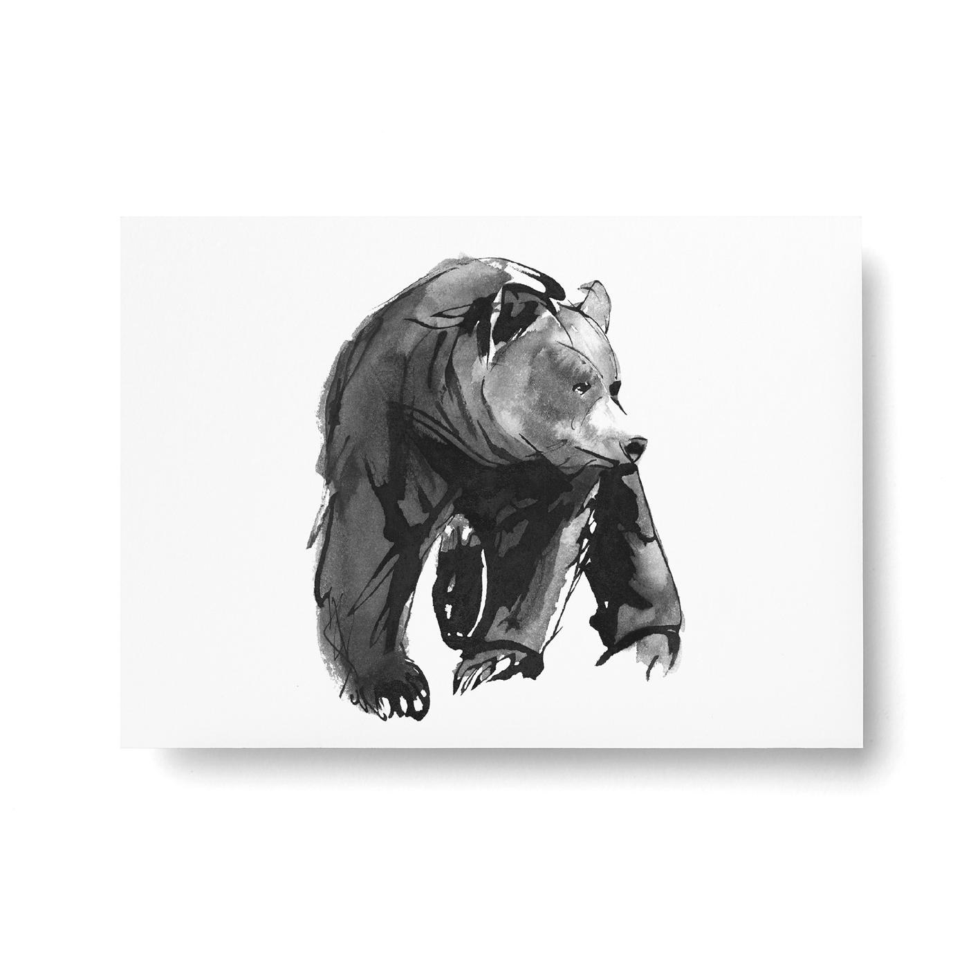 Lempeä karhu -postikortti