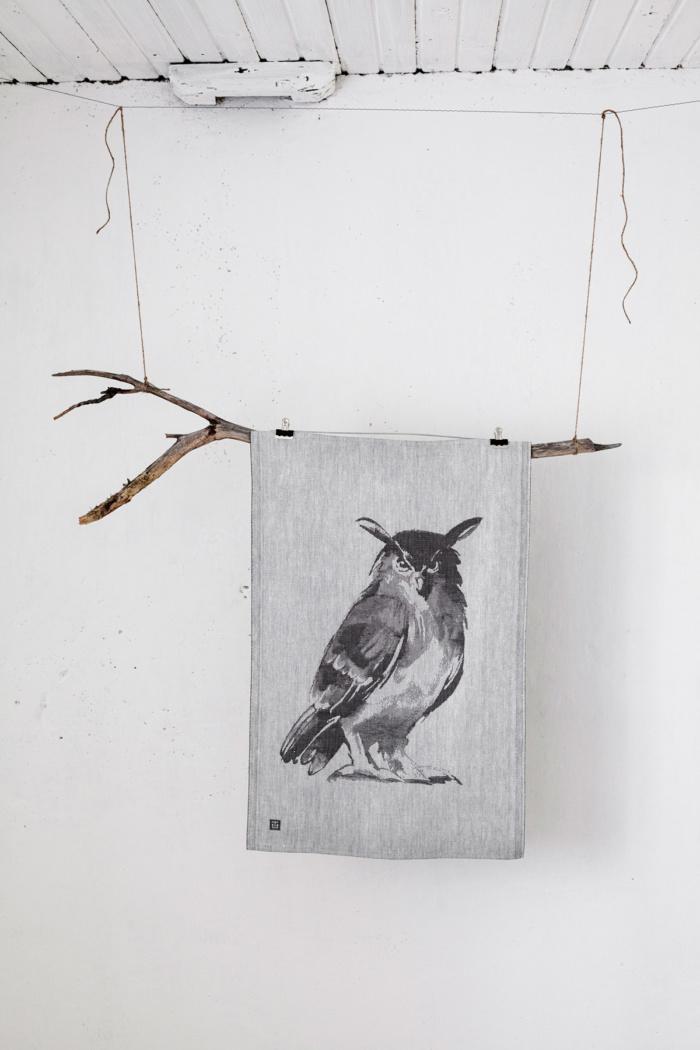 Owl woven home textile