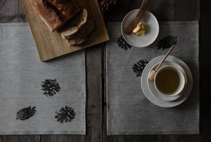 Woven pine cone home textile
