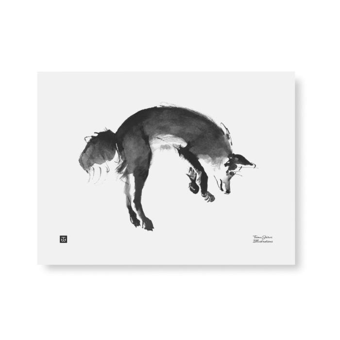 Leaping Fox wall art