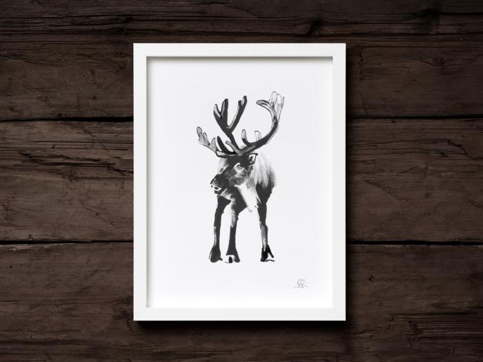 Reindeer framed wall art