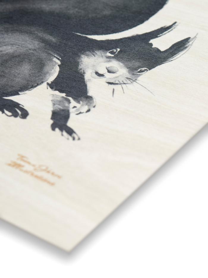 Squirrel plywood art