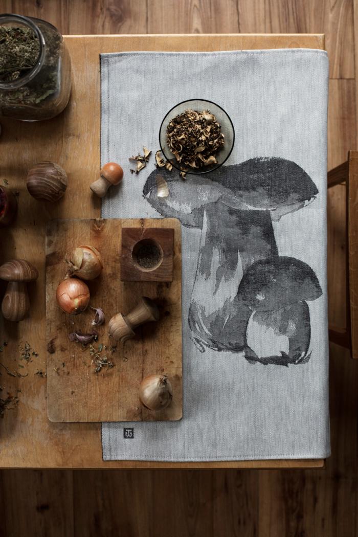 porcini mushroom tea towel teemu jarvi x lapuankankurit