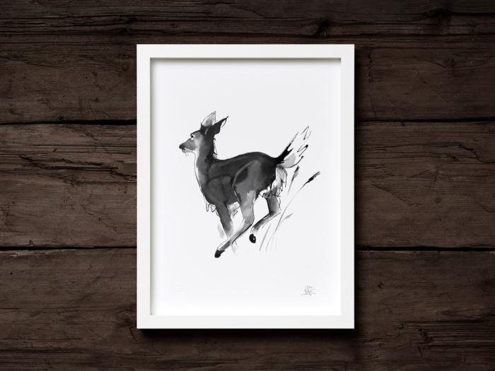white-tailed deer fine art print