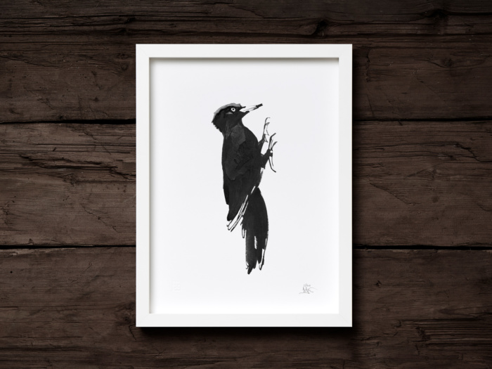 Woodpecker framed wall art
