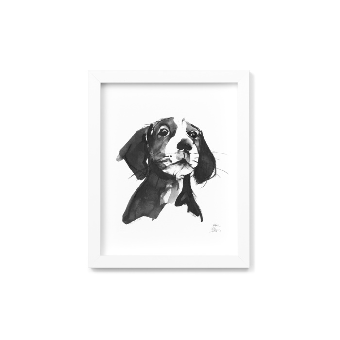 Hound dog framed wall art