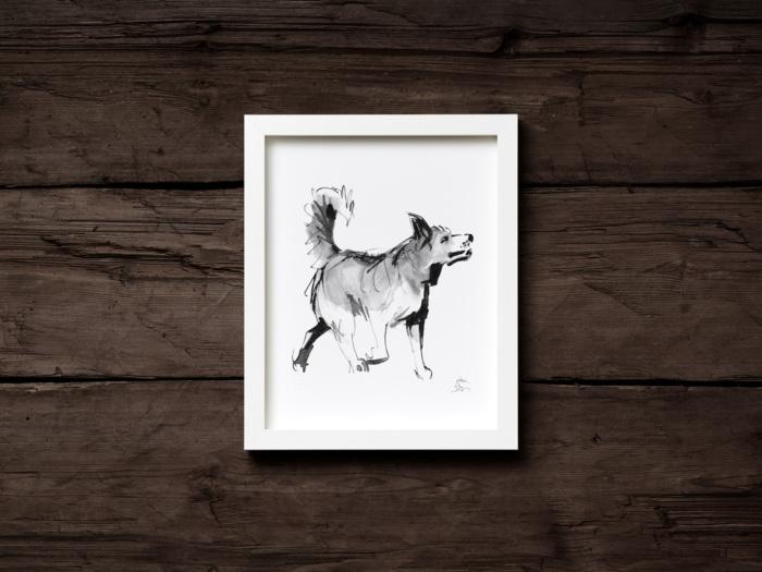 Spitz dog fine art print