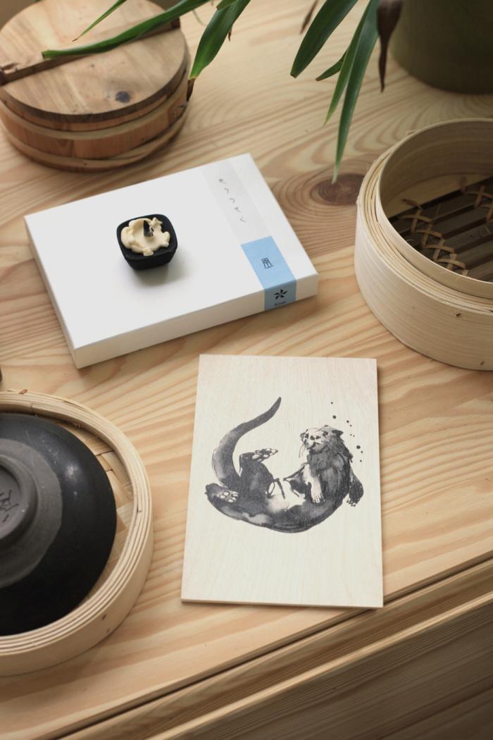 Plywood Otter art card