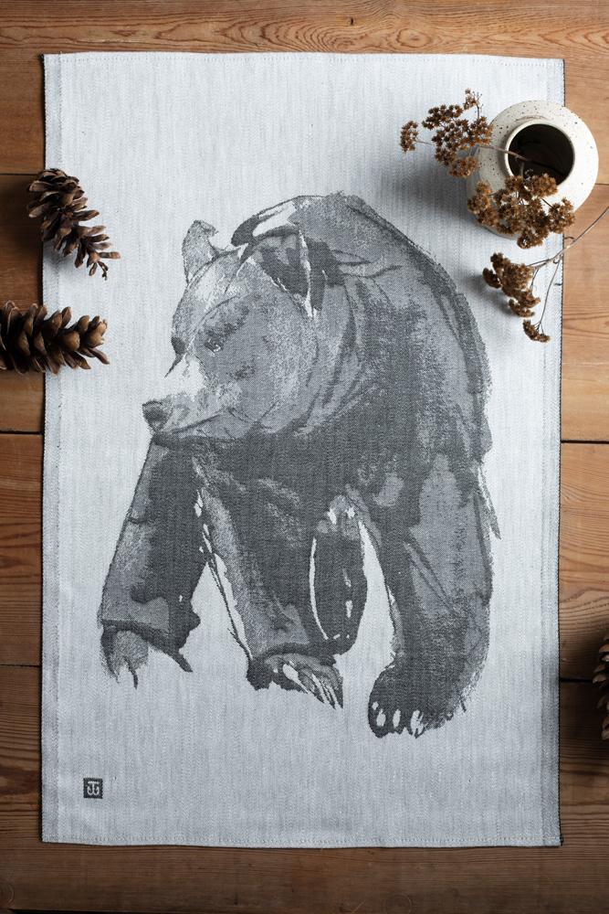 Gentle Bear tea towel home textile