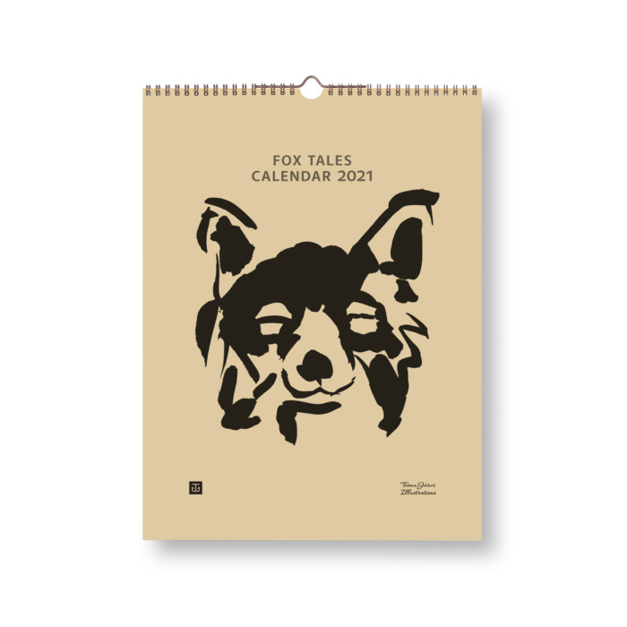 Fox Tales wall art calendar cover 2021