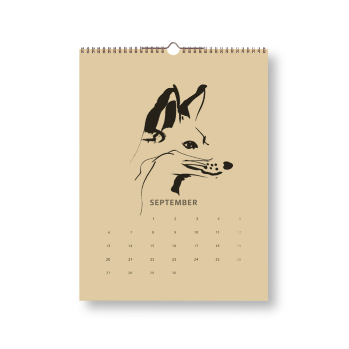 sand & Black Fox Tales Calendar 2021 september
