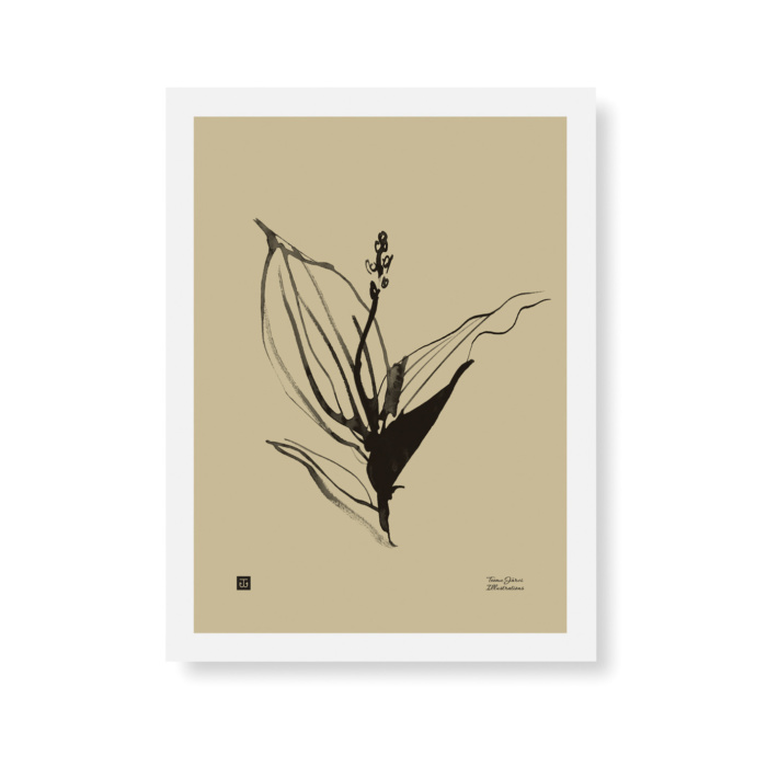 Sand colored Lily of the valley wall art