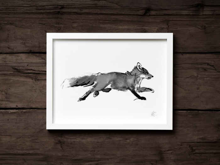 Adventurous fox framed wall art