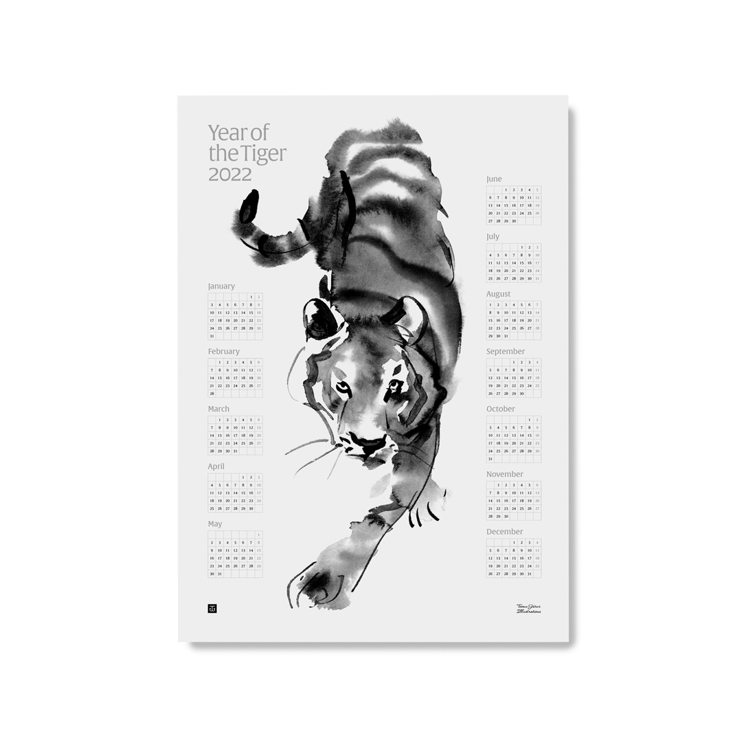 Year of the Tiger 2022 -julistekalenteri